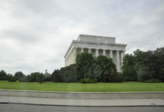 Washington DC,August 5th:Lincoln Memorial Bulding from Washington District of Columbia Royalty Free Stock Images