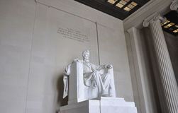 Washington DC,August 5th:Lincoln Memorial Monument from Washington District of Columbia Stock Image