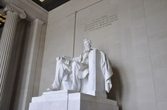 Washington DC,August 5th:Lincoln Memorial Monument from Washington District of Columbia Royalty Free Stock Photos