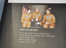 Washington DC,August 5th:Skylab Crew info in Smithonian National Air and Space Museum from Washington DC in USA Royalty Free Stock Photos