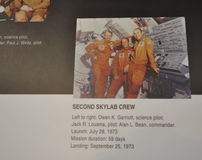 Washington DC,August 5th:Skylab Crew info in Smithonian National Air and Space Museum from Washington DC in USA Stock Photography