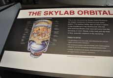 Washington DC,August 5th:Skylab info in Smithonian National Air and Space Museum from Washington DC in USA Royalty Free Stock Photo