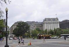 Washington DC,August 5th:Willard luxury Hotel from Washington District of Columbia Royalty Free Stock Photo