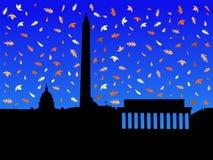 Washington DC in autunno illustrazione di stock