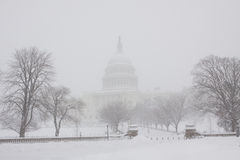 Washington, DC blizzard royalty free stock image