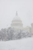 Washington, DC blizzard Stock Image