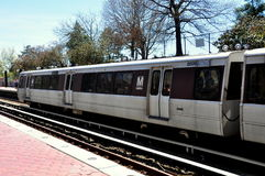 Washington, DC:  Blue Line Metro Subway Train Stock Images