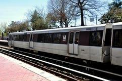 Washington, DC:  Blue Line-Metro-Untergrundbahn Stockbilder