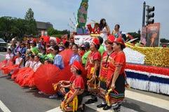 Washington, DC C - 4 LUGLIO 2017: rappresentanti dei Taiwan-partecipanti cittadino festa dell'indipendenza parata del 4 luglio 20 Fotografie Stock