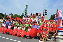 Washington, DC C - 4 LUGLIO 2017: rappresentanti dei Taiwan-partecipanti cittadino festa dell'indipendenza parata del 4 luglio 20 Fotografia Stock Libera da Diritti