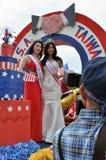 Washington, DC C - 4 LUGLIO 2017: rappresentanti dei Taiwan-partecipanti cittadino festa dell'indipendenza parata del 4 luglio 20 Immagine Stock