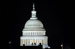Washington DC Capitol. Washington, DC Capitol building dome at night Stock Photos