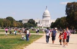 Washington DC Capitol Building. WASHINGTON, DC - OCTOBER 04: Kite Festival Event on October 04, 2008 in Washington, DC USA. People gathering at Washington DC Stock Photography