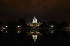 Washington DC - Capitol building and reflection. Washington DC - Capitol building and its mirror reflection on pool Stock Photography