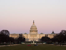 Washington, DC Capitol Buildings. At sunset Royalty Free Stock Images