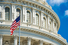Washington DC Capitol on cloudy sky Royalty Free Stock Photos