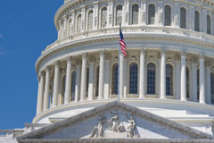 Washington DC Capitol on deep blue sky background Stock Photo