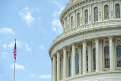 Washington DC Capitol detail on cloudy sky Stock Image