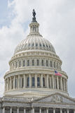 Washington DC Capitol detail on cloudy sky Stock Photography