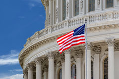 Washington DC Capitol detail on cloudy sky Royalty Free Stock Image