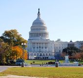 Washington DC Capitol , and Fall Season USA Royalty Free Stock Photo
