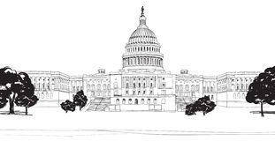 Washington DC Capitol with garden landscape, USA. Royalty Free Stock Images