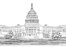 Washington DC Capitol with garden landscape, USA. Stock Images