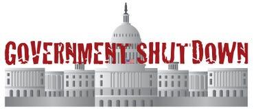 Washington DC Capitol Government Shutdown Text Royalty Free Stock Photo
