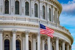 Washington DC Capitol na chmurnym niebie obraz stock