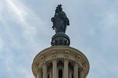 Washington DC Capitol statue e pluribus unum. Dome detail Royalty Free Stock Image