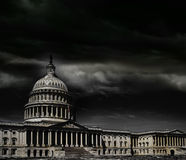 Washington DC capitol storm Royalty Free Stock Images