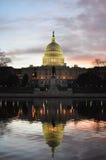 Washington DC - Capitolbyggnad och reflexion Royaltyfri Foto