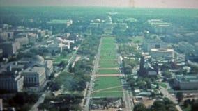 WASHINGTON DC 1975: Casa branca e outros locais nacionais do monumento da C.C. e os federais video estoque