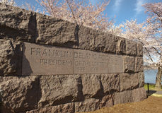 Washington DC Cherry Blossom Festival. Franklin Delano Roosevelt monument surrounded by cherry blossoms at the annual festival in Washington DC Royalty Free Stock Photography