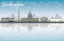 Washington DC city skyline with cloud and blue sky Stock Photography