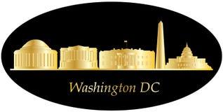 Washington dc city skyline. Gold Royalty Free Stock Images