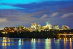 Washington, DC cityscape. At the night time Royalty Free Stock Photos