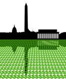 Washington DC con i dollari royalty illustrazione gratis