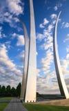 Washington DC conmemorativo de los chapiteles de la fuerza aérea de los E.E.U.U. fotos de archivo