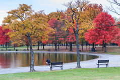 Washington DC Constitution Gardens in Autumn Stock Photos