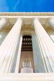 Washington DC da construção de Abraham Lincoln Memorial foto de stock royalty free