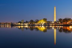 Washington DC Dawn Monument royaltyfri bild