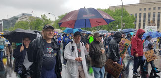 WASHINGTON DC - 22 de abril de 2017 marzo para la ciencia Fotos de archivo libres de regalías