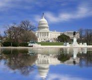Washington DC, de bouw van het Capitool van de V.S. Royalty-vrije Stock Afbeeldingen