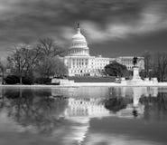 Washington DC, de bouw van het Capitool van de V.S. Stock Foto