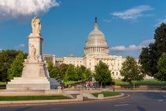 Washington DC, de bouw van het Capitool van Verenigde Staten Stock Foto