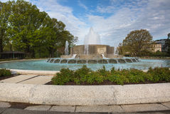 Washington DC de la fuente del jardín del senado imágenes de archivo libres de regalías