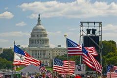 Washington DC de la protesta de la guerra Foto de archivo libre de regalías