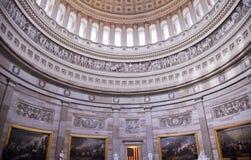 Washington DC de la Rotonda de las pinturas de la bóveda del capitolio de los E.E.U.U. imagen de archivo