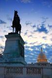 Washington DC in de ochtend. Royalty-vrije Stock Afbeeldingen